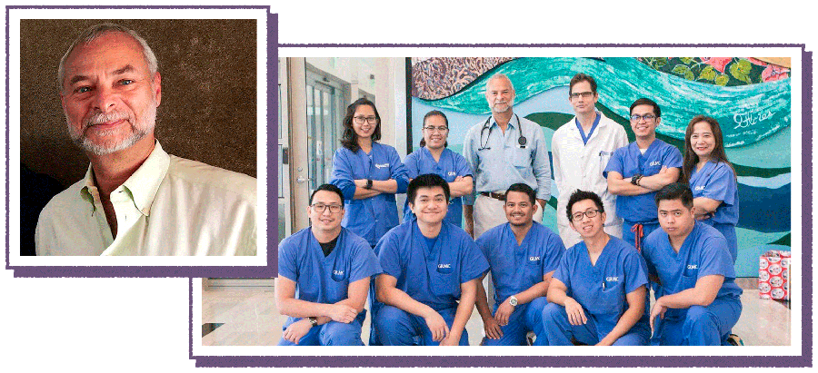 Dr. Joseph Wiedermann and his colleagues working locum tenens in Guam
