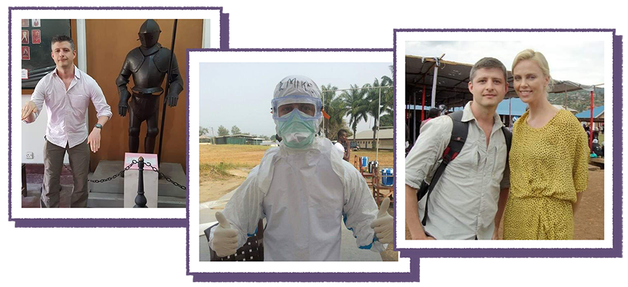 photos of Dr. Drusano working global health